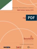 Keystone NGO partner survey 2011