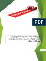 Aula 2 - linguagem oral e informal