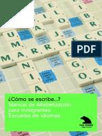 Manual de Alfabetización Para Inmigrantes