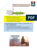 Actividades - Toma de Decisiones y Emprendimiento