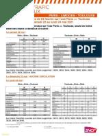 Le détail du trafic ferroviaire sur la ligne Polt entre le 22 et le 24 mai