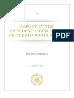 Resumen del Informe Presidencial sobre Status Puerto Rico