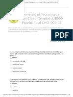 Universidad Tecnológica Del Cibao Oriental- UTECO Prueba Final Orientacion I