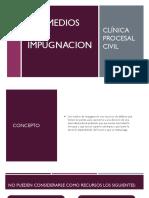 CLASIFICACION DE LOS MEDIOS DE IMPUGNACION