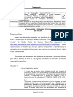 Portifólio - 1º semestre - Disciplina