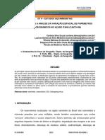 USO DE SIG PARA A ANÁLISE DA VARIAÇÃO ESPACIAL DE PARÂMETROS HIDROGEOQUÍMICOS NO AÇUDE ITANS (CAICÓ-RN)_000