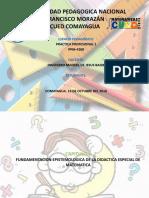 FUNDAMENTACION EPISTEMOLOGICA DE LA DIDACTICA ESPECIAL DE MATEMATICA
