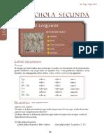 Conjugación presente latín. Primera y segunda.