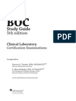 ASCP Sttudy Guide | Professional Certification | Test