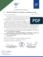 Convocatoria Dirigentes Valparaiso y O'Higgins