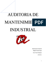 Auditoria mantenimiento