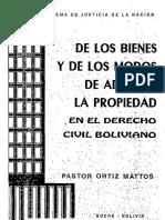 Ortiz Mattos - De Los Bienes y de Los Modos de Adquirir La Propiedad en El Derecho Civil Boliviano (2)