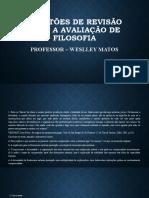 AULA 4 - Questões de revisão para a avaliação de Filosofia