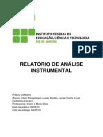 Relatório de Anin I - pHMetria IFRJ