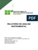 Relatório de anin - espectrofotometria - qm 171 IFRJ