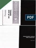 """Peluffo, Gabriel, """"Latinoamericanidad y experiencia artística contemporánea"""""""