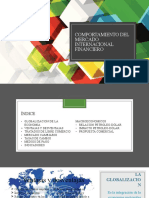 Comportamiento del mercado internacional financiero