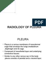 THE RADIOLOGY OF PLEURA