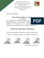 certificado Joel Noriega