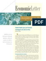 Economic Letter - Federal Health Care Law
