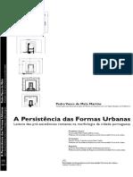 Persistência Das Formas Urbanas