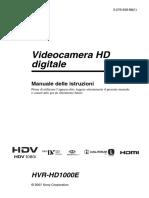 Manuale Telecamera Sony 10000
