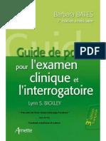 - Guide de poche pour l'examen clinique et l'interrogatoire