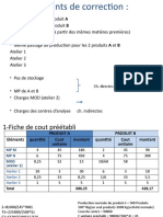 Etude de cas Analyse des écarts
