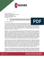 NASABA King Hearings CA Letter