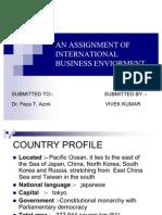 AN ASSIGNMENT OF INTERNATIONAL BUSINESS ENVIORMENT