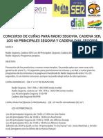 Bases Concurso de Cuñas para Radios Patrocinadas.
