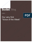 Voice of the Week, Scribd Blog, 3.16.11