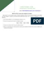 OMP1-Vecteurs-Derivee