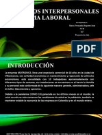 Conflictos Interpersonales en El Clima Laboral
