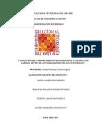 """""""LA RELACIÓN DEL COMPORTAMIENTO ORGANIZACIONAL Y SATISFACCIÓN LABORAL DENTRO DE LOS TRABAJADORES DEL BANCO INTERBANK"""""""