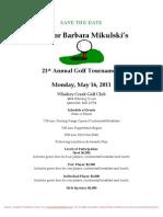 21st Annual Golf Tournament for Barbara Mikulski