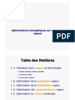 optimisation Vapeur