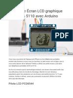 Interface Écran LCD graphique Nokia 5110 avec Arduino