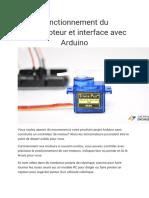 Fonctionnement Du Servomoteur Et Interface Avec Arduino