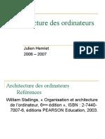 Slides Architecture Des Ordinateurs SRC1