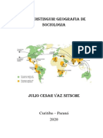 Como distinguir geografia de sociologia