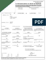 Certificat Temporaire Immatriculation