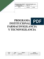 PROGRAMA DE FARMACOVIGILANCIA Y TECNOVIGILACIA SERVIODONTO
