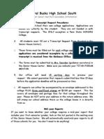 Transcript Request Proceedures
