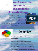 Human Resource Issues in Transcultural Organizations