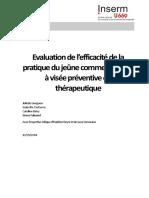 Inserm RapportThematique EvaluationEfficaciteJeune 2014
