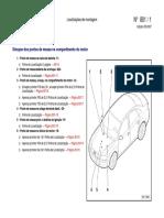 Audi A4 2002 - Sinopse dos pontos de massa