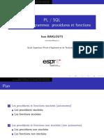 PLSQL CH3 Les procédures et fonctions