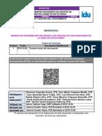 Inic11 Ingreso de Informacion Geografico de Ensayos de Exploraciones v 1