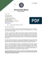 Litigation Hold Letter to Senate President Fann